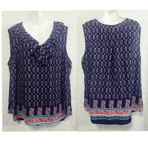 Terra & sky floral shirt short sleeve size…